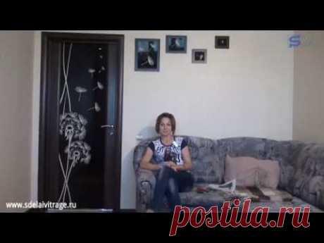 Декор межкомнатной двери своими руками - YouTube