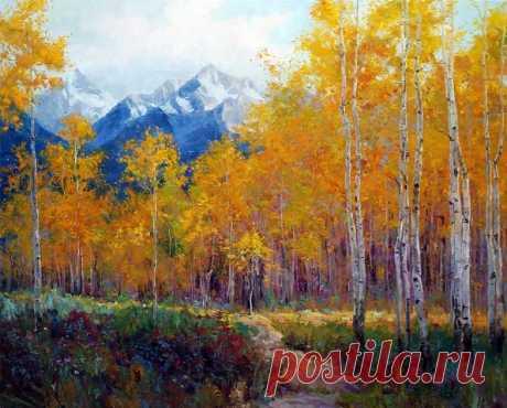 Пейзаж и девушки Erica Wallisa — Картины и живопись художников. Графика и галереи.