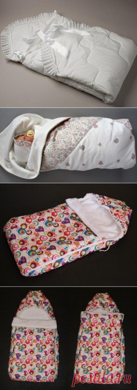 Конверт для новорожденного своими руками (фото): выкройка, как сшить на выписку летний и зимний конверт.