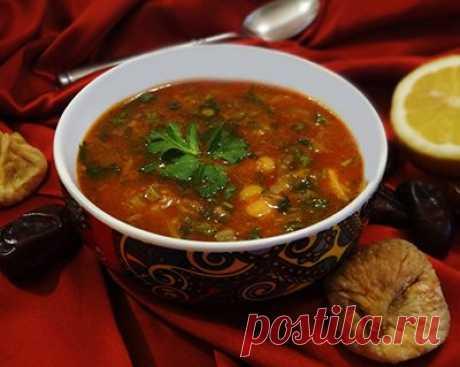 Пряный суп харира
