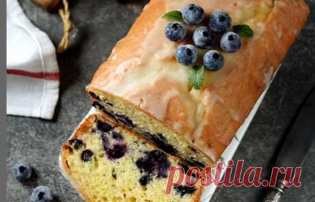 Восхитительно вкусный кекс с голубикой