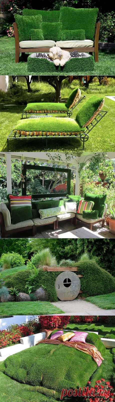 Зеленые идеи для садового дворика.