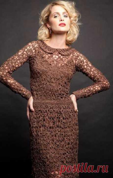 Огромное количество великолепных идей вязания платьев от Джованны Диас