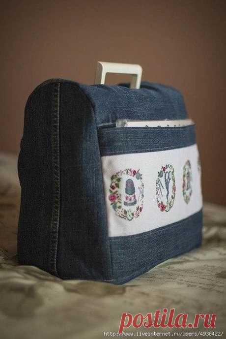 Чехол для швейной машинки из старых джинсов / Рукоделие