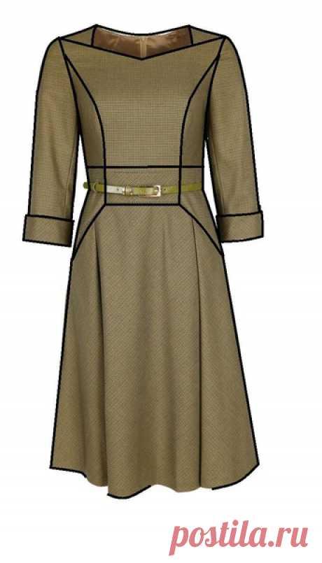 Платье #Готовые_выкройки на размеры 42-52 евро