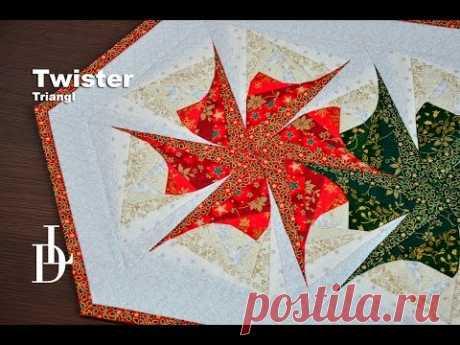 Patchwork Twister Triangl - Patchworkové pravítko - YouTube