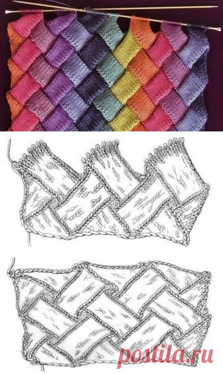 Энтрелак спицами - Техники вязания