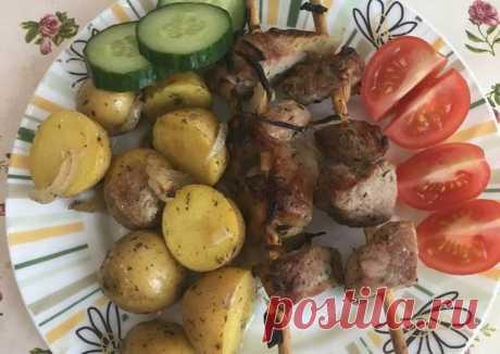 (5) Шашлык в духовке с мелким картофелем - пошаговый рецепт с фото. Автор рецепта Svetlana Shaykhieva . - Cookpad