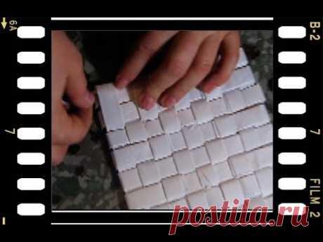 Плетёная корзинка с квадратным дном. Часть II.