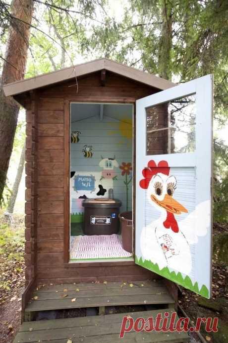 Красивые туалеты на даче: 30 волшебных идей . Милая Я