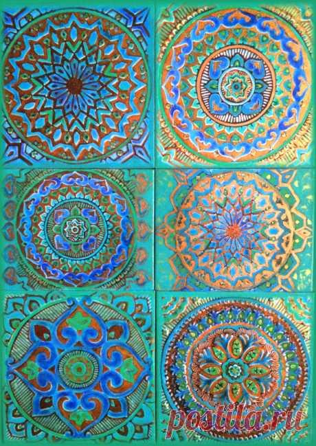 голубая плитка, плитка ручной работы, плитка керамическая ручной работы, плитка бирюзовая, плитка марокканская, плитка восточная ручной работы