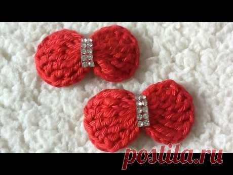 Lacinho de crochê para aplicações. - YouTube