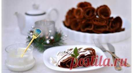 Тонкие шоколадные блинчики — Sloosh – кулинарные рецепты