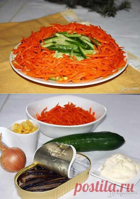 Салат со шпротами (8 фото). «ЖЖ рецепты»