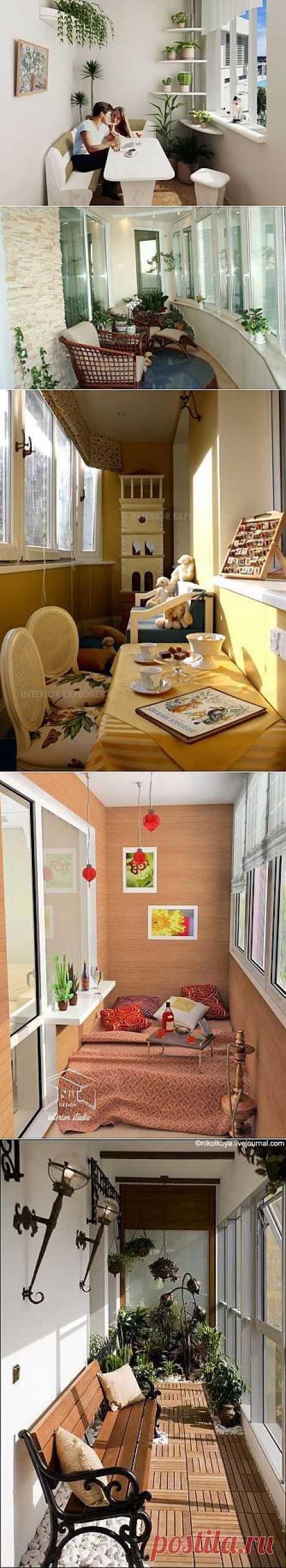 Идеи для отделки и дизайна балкона или лоджии.