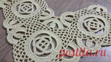 Tığişi Örgü Kare Dantel Motifi Yapımı & Crochet