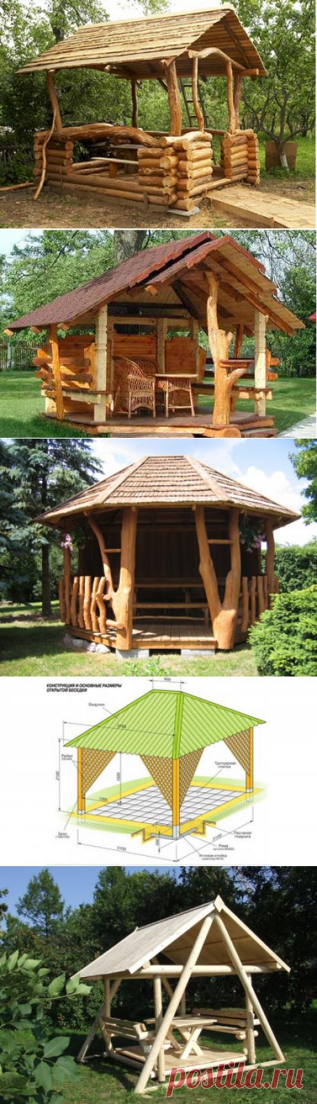 Деревянные летние беседки для дачного участка — 6 соток