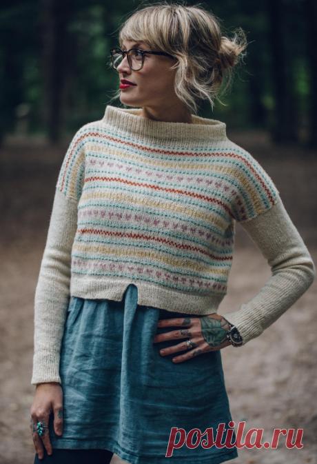 Вязаный свитер HeartstringsCrop | ДОМОСЕДКА