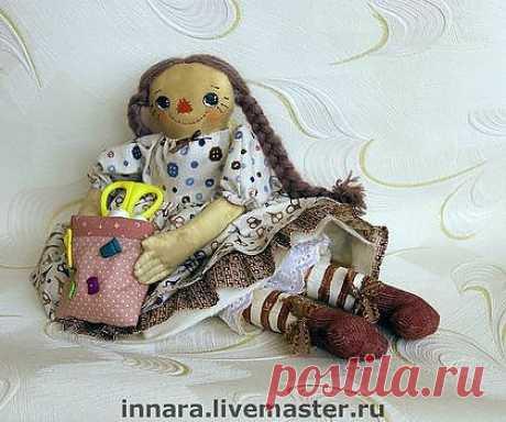 """Тряпичная кукла """"Портниха Тося"""" - подарок подруге,подарок женщине,подарок"""