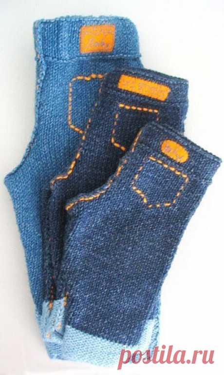 Что нам стоит не только дом построить, но и джинсы связать? из категории Интересные идеи – Вязаные идеи, идеи для вязания