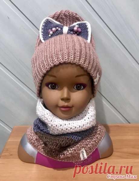 . Набор, шапка-бинни и хомут - Вязание - Страна Мам