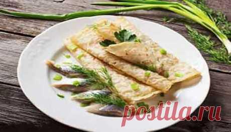 Блины с сельдью – оригинальная и вкусная закуска! | Готовим рецепты | Яндекс Дзен