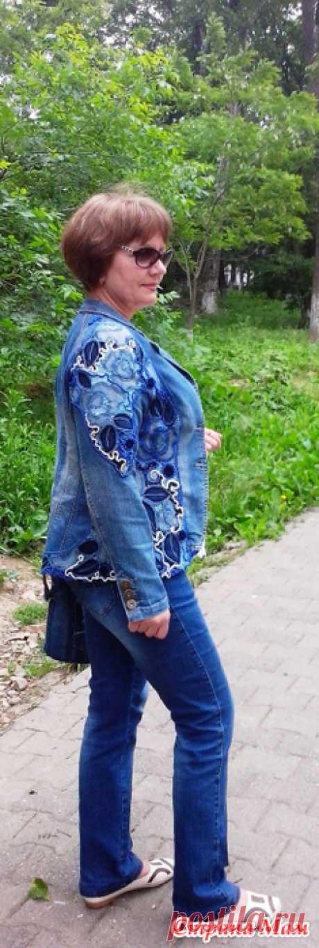 Джинсовая куртка от Натальи Жиленковой с элементами ирландского кружева. - Вязание - Страна Мам
