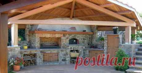 Современная летняя кухня на даче: 50 фото, проекты, рекомендации