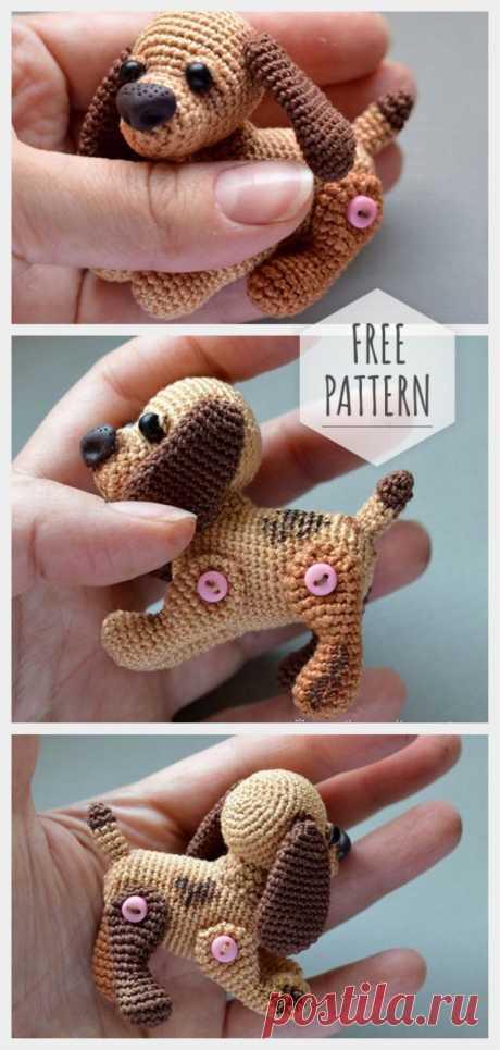 Amigurumi Mini Dog Free Pattern