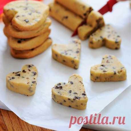 InVkus: Печенья в виде сердечек без формочек и запекания ко Дню Влюбленных