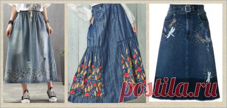 Хочешь новую яркую и необычную юбку? - берешь и вышиваешь - большая подборка | МНЕ ИНТЕРЕСНО | Яндекс Дзен