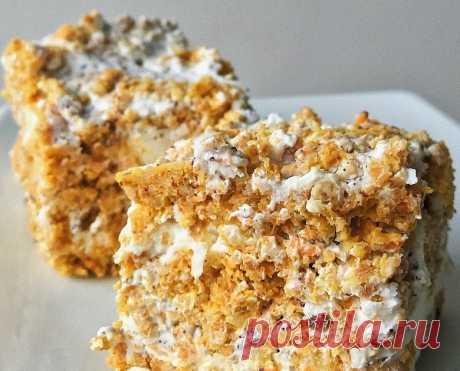 Морковное пирожное с кремом — Sloosh – кулинарные рецепты
