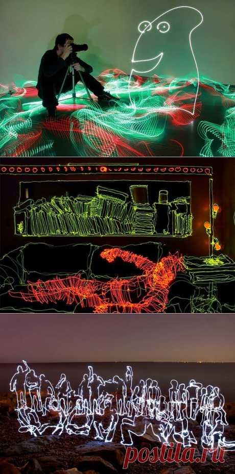 Lyuminografiya: el dibujo por luz