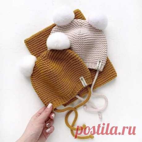 Вяжем детскую шапочку спицами | Вяжем крючком. Делаем руками. | Яндекс Дзен