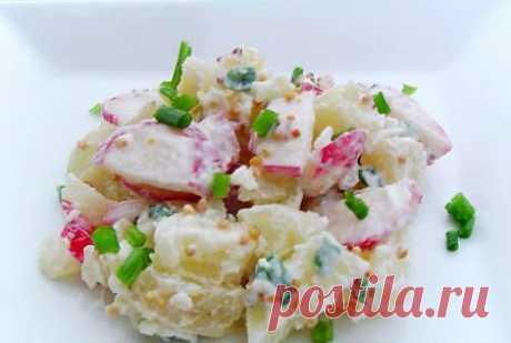 Салат из картофеля и редиса | Краше Всех
