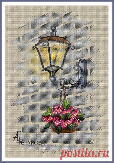 Оригинал схемы вышивки «Уличный фонарь» - Вышивка крестом