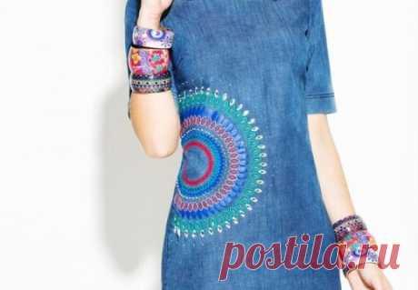 Шикарные идеи джинсовых переделок          Переделки джинсов в стиле бохо:                                      Источник