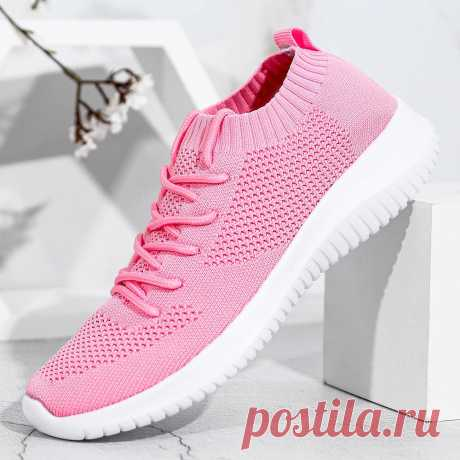 Women Lace Up Lightweight Comfortable Walking Shoes - US$35.99