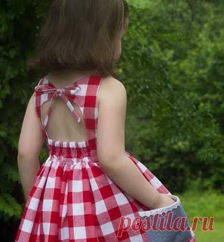 Спинки детских платьев на жару (трафик) Модная одежда и дизайн интерьера своими руками