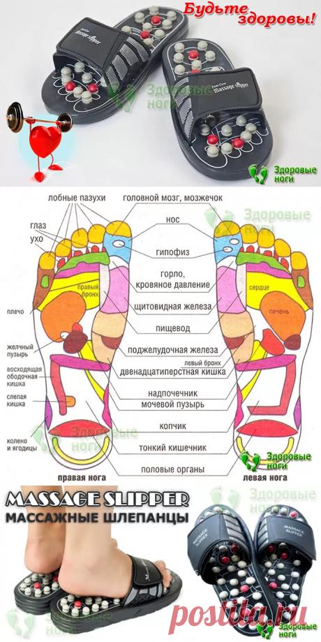 Рефлекторные массажные шлепанцы Massage Slipper  На сегодняшний день проблема повседневной усталости, слабости, появление нарушений сна, возникновение стрессов - достаточно широко распространенное явление. Мало кто знает, что возникающие ощущения дискомфорта имеют прямую связь с работой внутренних органов. Шлепанцы с массажным эффектом имеют двухцветные следки. Отличительной особенностью тапочек является наличие специальных шипов на поверхности подошвы.  🎄 новогодние поделки