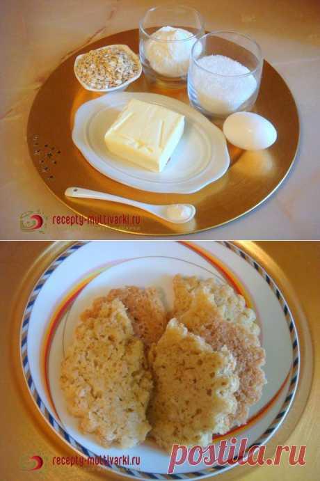 Готовим овсяное печенье в мультиварке - рецепт приготовления с фото
