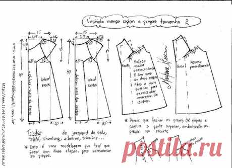 Dress for the girl. A pattern — the sizes from 1 year to 14 years (Sewing and a cut) | the Inspiration of the Needlewoman Magazine