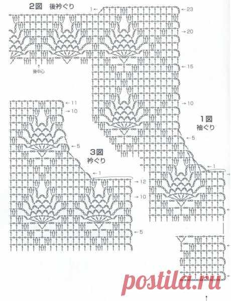 Очаровательные японские жакетики крючком и схемы. | Вязалки Веселого Хомяка | Яндекс Дзен