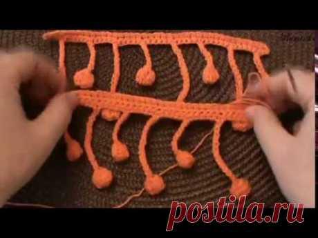 Вязание крючком каймы КАПЕЛЬКИ | Вязание крючком для начинающих