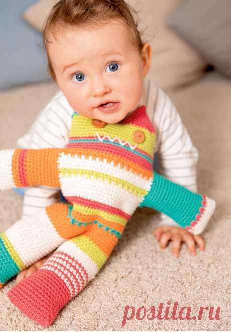 Разноцветный «Монстрик» - схема вязания крючком. Вяжем Игрушки на Verena.ru