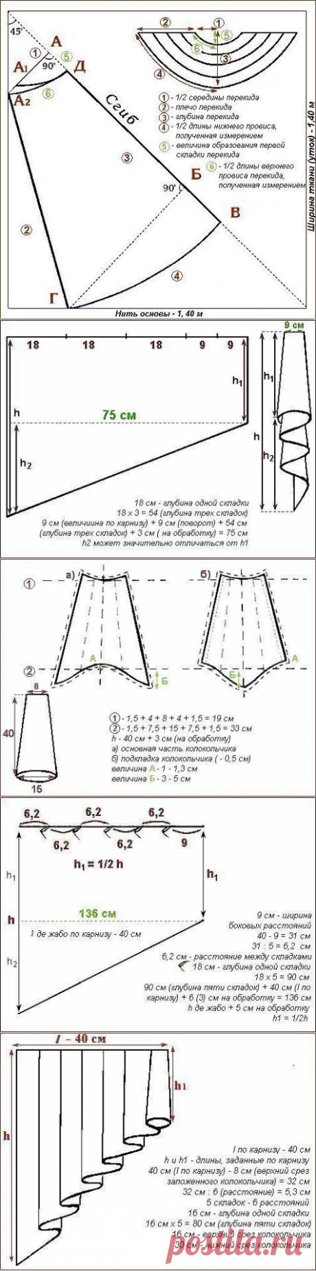 Украшаем окна: выкройки наиболее сложных элементов драпировок — Сделай сам, идеи для творчества - DIY Ideas
