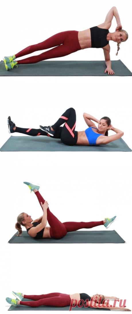 15-минутная тренировка для избавления от жира на животе и боках