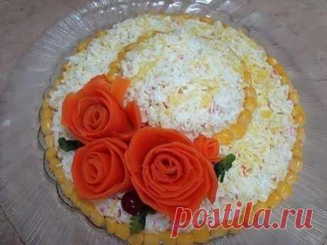 Как приготовить салатик соломенная шляпка - рецепт, ингредиенты и фотографии