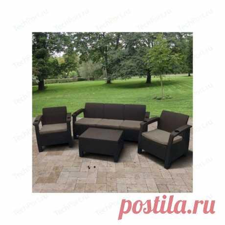 Купить Комплект мебели с диваном Afina garden Yalta 3set AFM-1030A brown (имитация ротанга) 5Pcs недорого в интернет-магазине - Москва и регионы