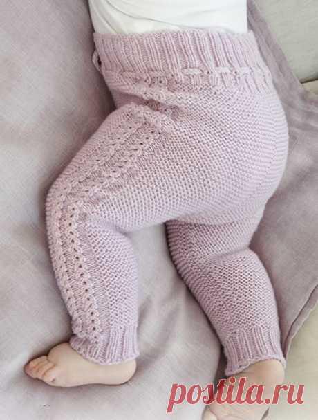 Бесшовные штанишки для новорожденного спицами - Портал рукоделия и моды